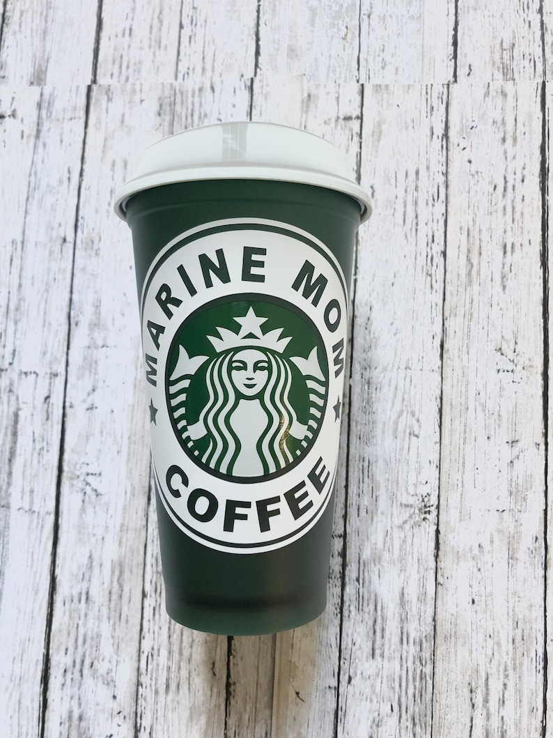 BFA free plastic cup Reusable Coffee Cup USMC Marine Mom /& Dad Personalized Starbucks Cup Marine Corps EGA