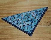 Blue Paw Prints Tie Dye S...
