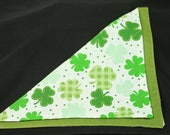 Large Shamrocks On White...