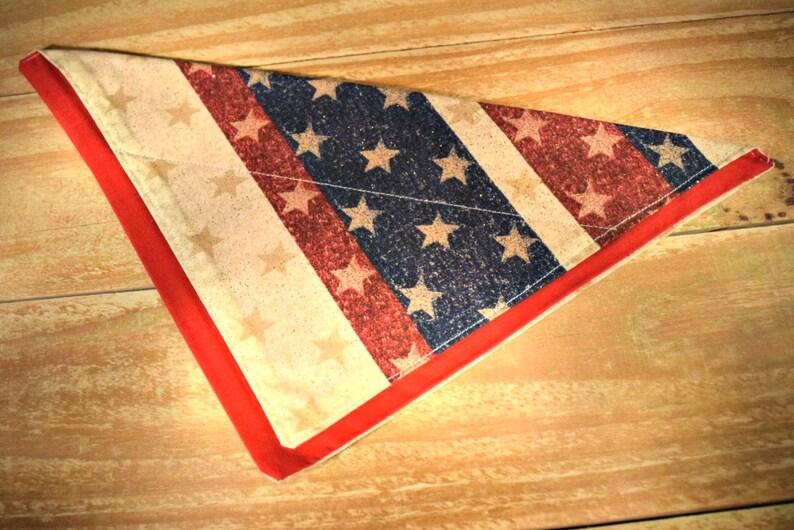 Americana Stars and Stripes Slip Through Collar No Tie Pet image 0