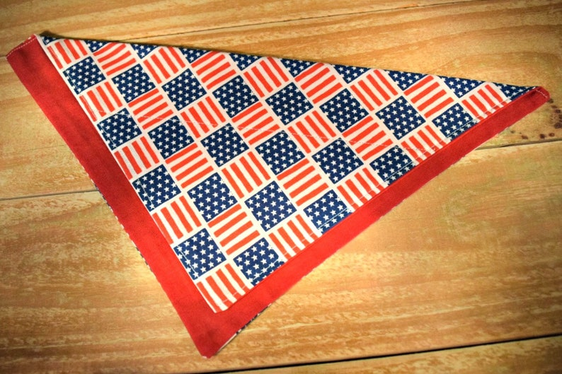 Americana Flags Stars and Stripes Small Slip Through Collar No image 0