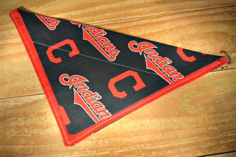 Cleveland Indians MLB Baseball Pet Slip Through Collar No Tie image 0