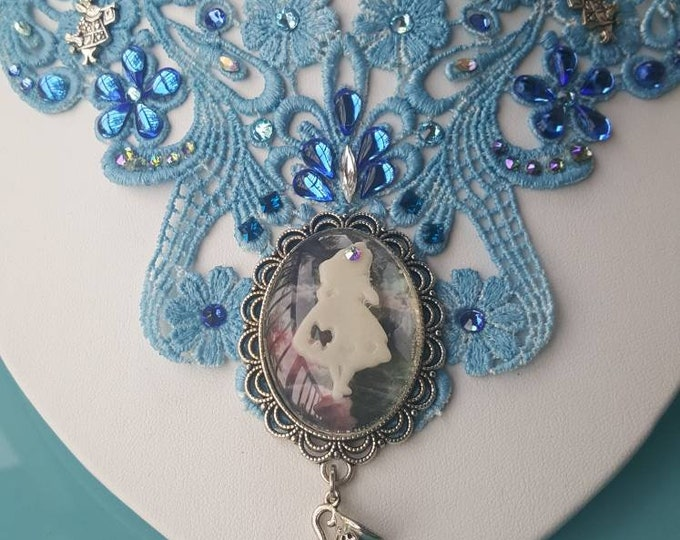 Alice Inspired Lace Necklace