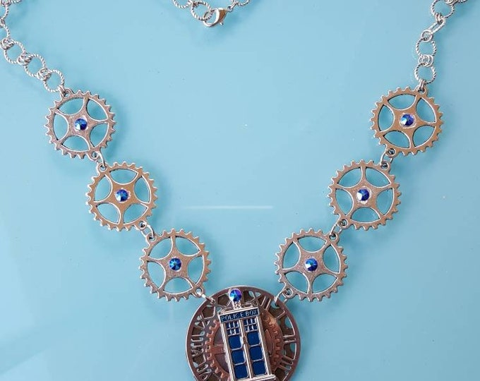 Inspired Dr Who Necklace - Silver Steampunk
