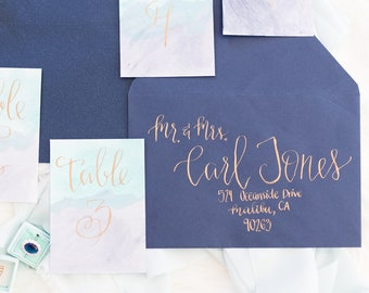Wedding Envelopes, Wedding Calligraphy, Wedding Invitations, Envelope Addressing, Hand Lettered, Event Invitation, Modern Calligraphy