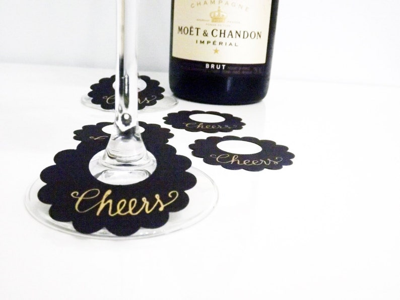 Wine Labels Custom Wine Labels Wine Glass Labels Thank You image 0