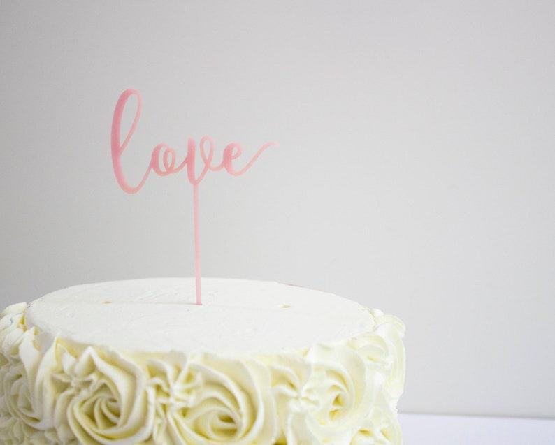 Wedding Cake Topper Love Topper Acrylic Cake Topper image 0