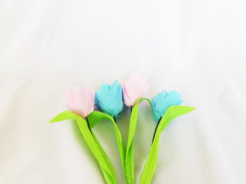Paper Tulips Pink Tulips Home Decor Spring Floral image 0