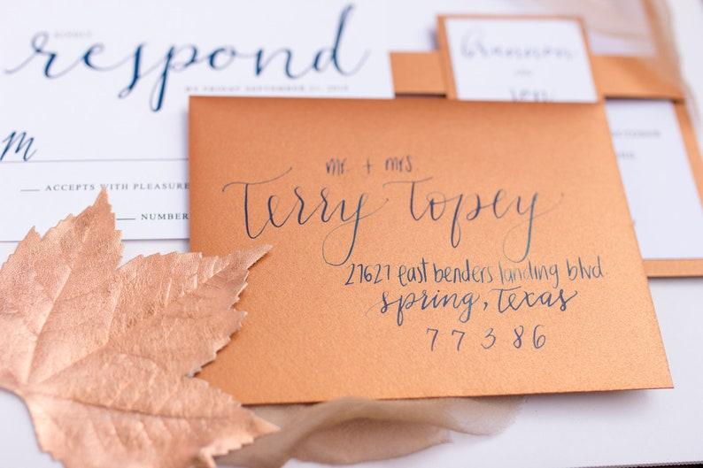 Wedding Envelopes Wedding Calligraphy Wedding Invitations image 0