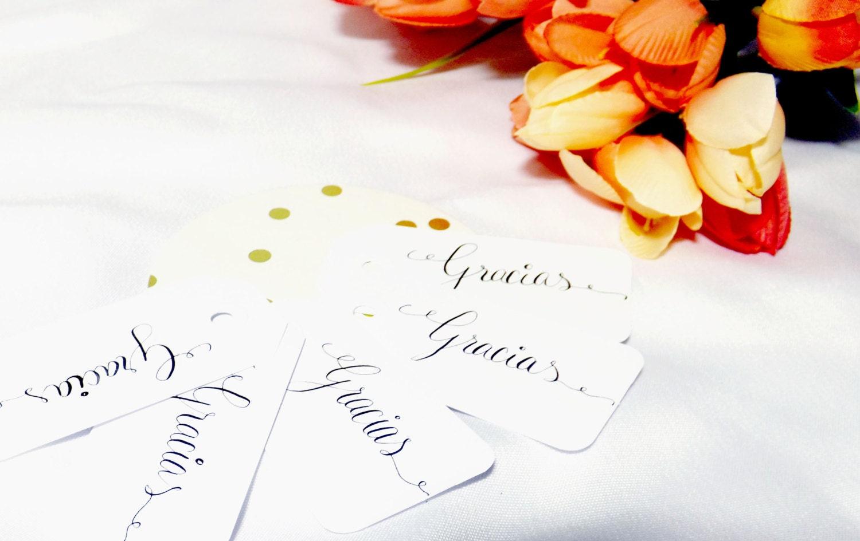 Gracias Tags, Thank You Tags, Destination Wedding, Punta Cana ...