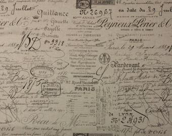 waverly french script fabric