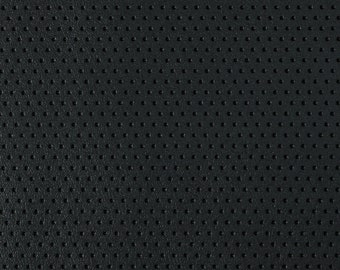 Upholstery Vinyl Perforated  Marine Faux Leather Waterproof Black 54  sold BTY