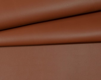"""VINYL PLUS SADDLE Brown Pleather Faux Leather Auto Rv Marine Outdoor Indoor Waterproof Multi-use Fabric By The Yard 54""""Wide"""