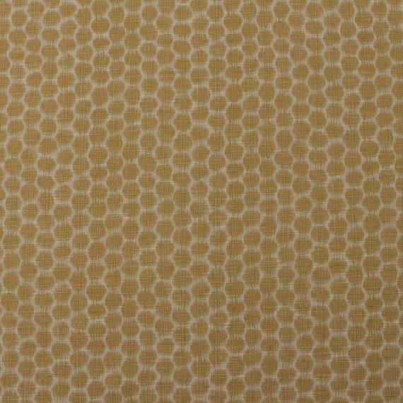 Ballard Designs MIA DIJON Yellow Cream Honeycomb Geometric Woven Craft Upholstery Pillow Cushion Drapery Bedding Fabric By The Yard 54Wide