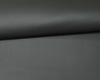 """VINYL PLUS Medium GRAY Pleather Faux Leather Auto Rv Marine Outdoor Indoor Waterproof Multi-use Fabric By The Yard 54""""Wide"""