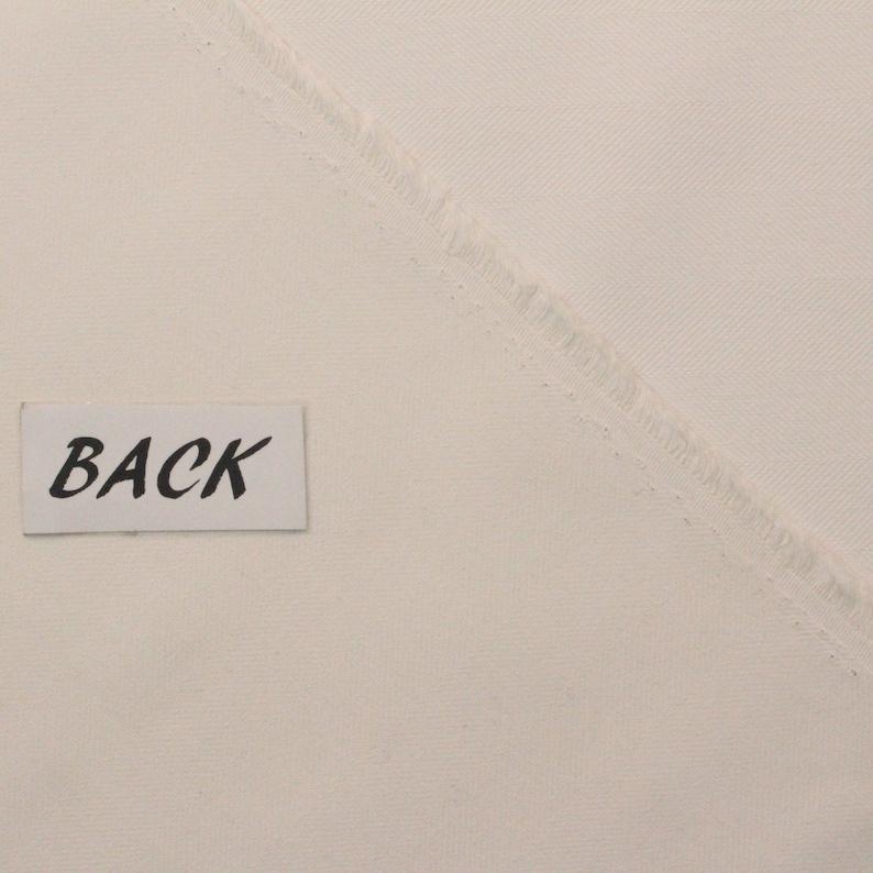 SUNBRELLA\u00ae 40046-0048 TRAX WHITE Herringbone Weave Outdoor Indoor Drapery Cushion Upholstery Pillow Woven Fabric By The Yard 54Wide