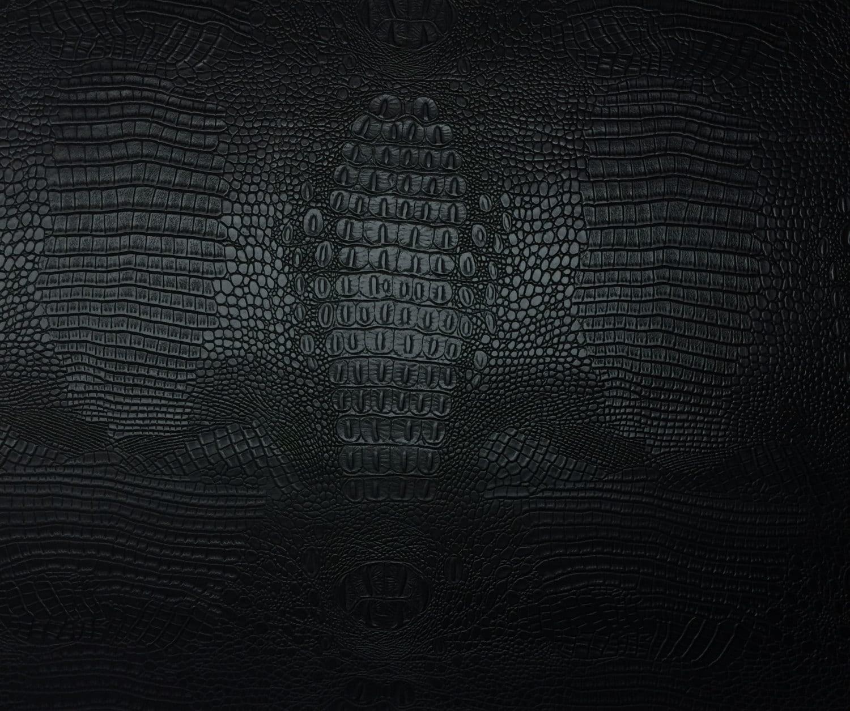 Vinyl Crocodile GATOR Fabric DARK MUSTARD Fake Leather Upholstery SOLD BTY