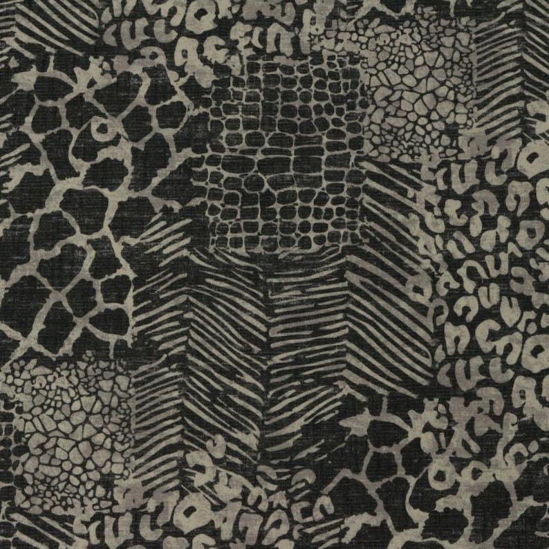 African Cheetah Digital Printed Linen Cotton Fabric Curtain Upholstery Cushion