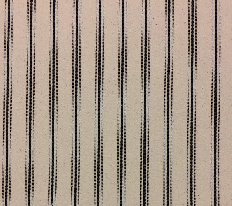 GOOD QUALITY 100/% COTTON TICKING LOOK STRIPE FABRIC 3 DIFFERENT DESIGNS!!