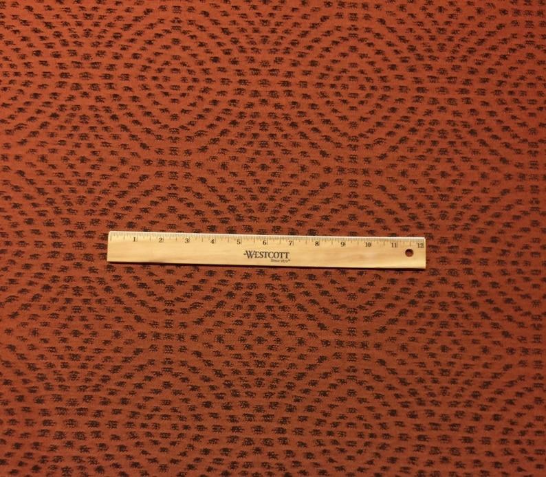 SUNBRELLA\u00ae 45842 MANDALA RUST  Orange Brown Geometric Animal Spots Outdoor Indoor Upholstery Pillow Jacquard Fabric By The Yard 54Wide