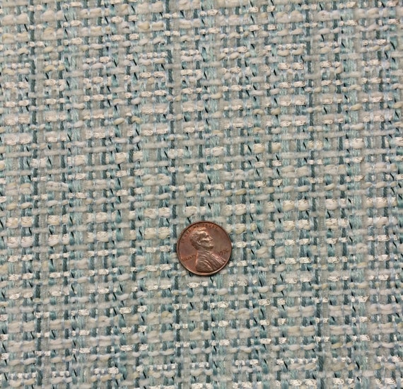 Ballard Designs Coco Tweed Mineral Blue Thick Woven Solid Etsy