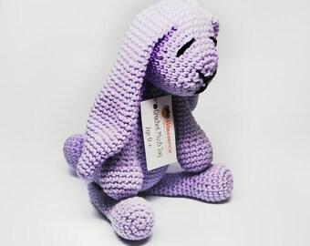 Stuffed Rabbit - Purple Bunny - Purple Bunny Stuffed Animal - Stuffed Bunny - Purple Rabbit Stuffed Animal - Plush Animal Bunny - Baby Gift