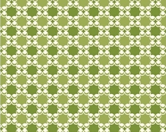 Modern Quilt Fabric by the yard, Downtown by LB Krueger, Geometric Fabric, Green Fabric, Windham Fabrics, Sewing Supplies, Circle fabric