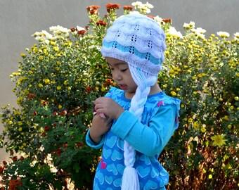 Knitting Pattern Only - Frozen Wig Hat 9e30cd49054