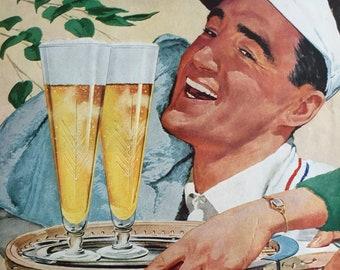 The goodness of Malt, fun 1959 beer ephemera.