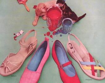 c3ca8ca5c972c Retro shoe ad | Etsy