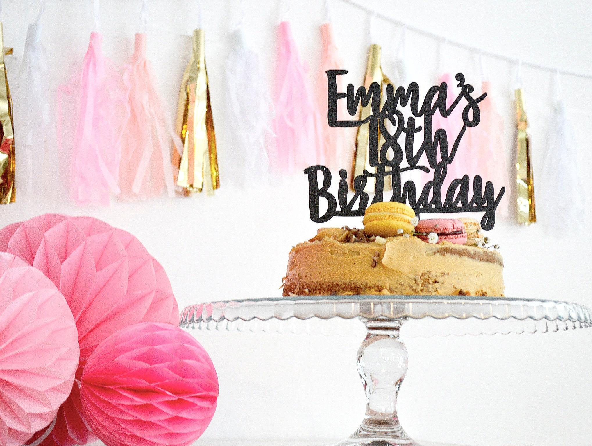 18th Birthday Cake Topper Rose Gold Birthday Cake Topper Birthday