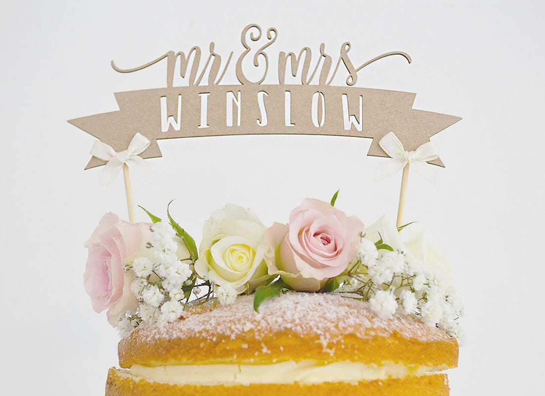 Rustic Wedding Cake Topper, Mr and Mrs Wedding Cake Topper, Wedding ...