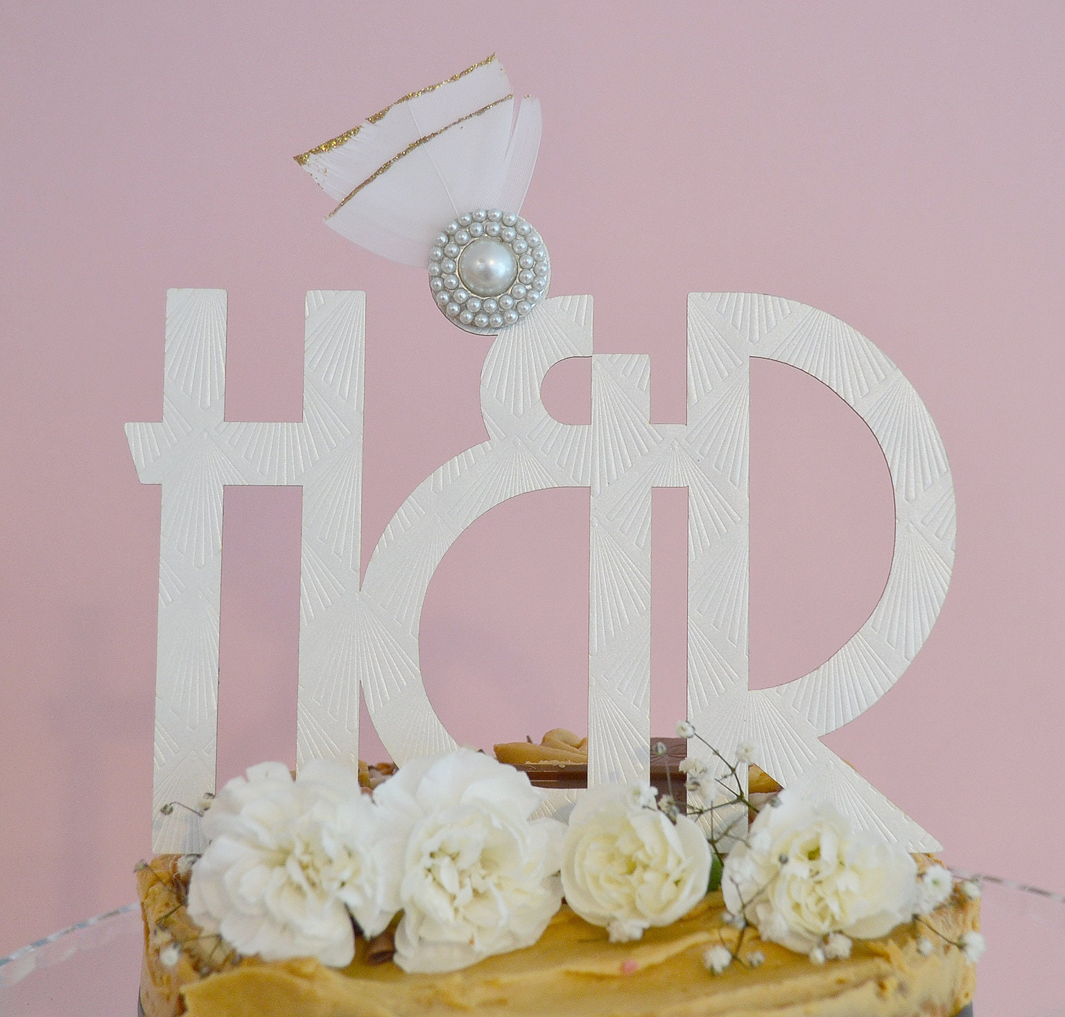 Art Deco Wedding Cake Topper, Wedding Cake Topper, Customised Cake ...