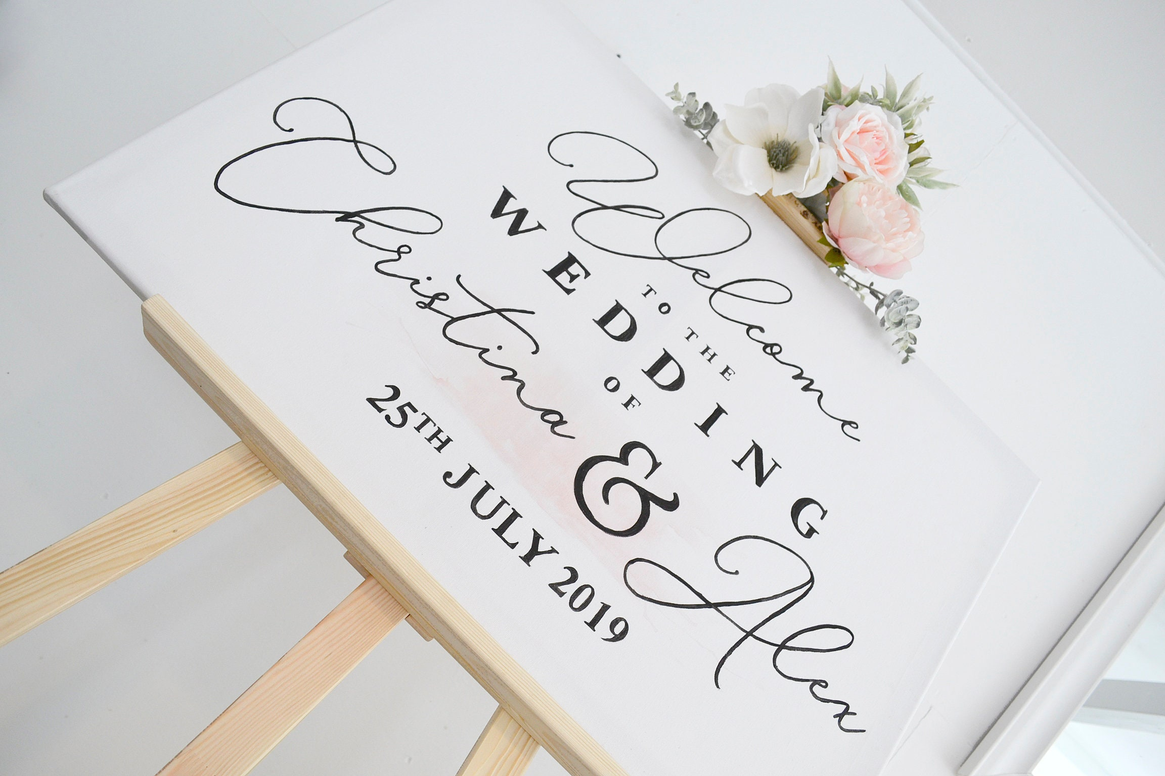 Wedding Decor, Mr & Mrs Wedding Sign, Hand painted Wedding Sign ...
