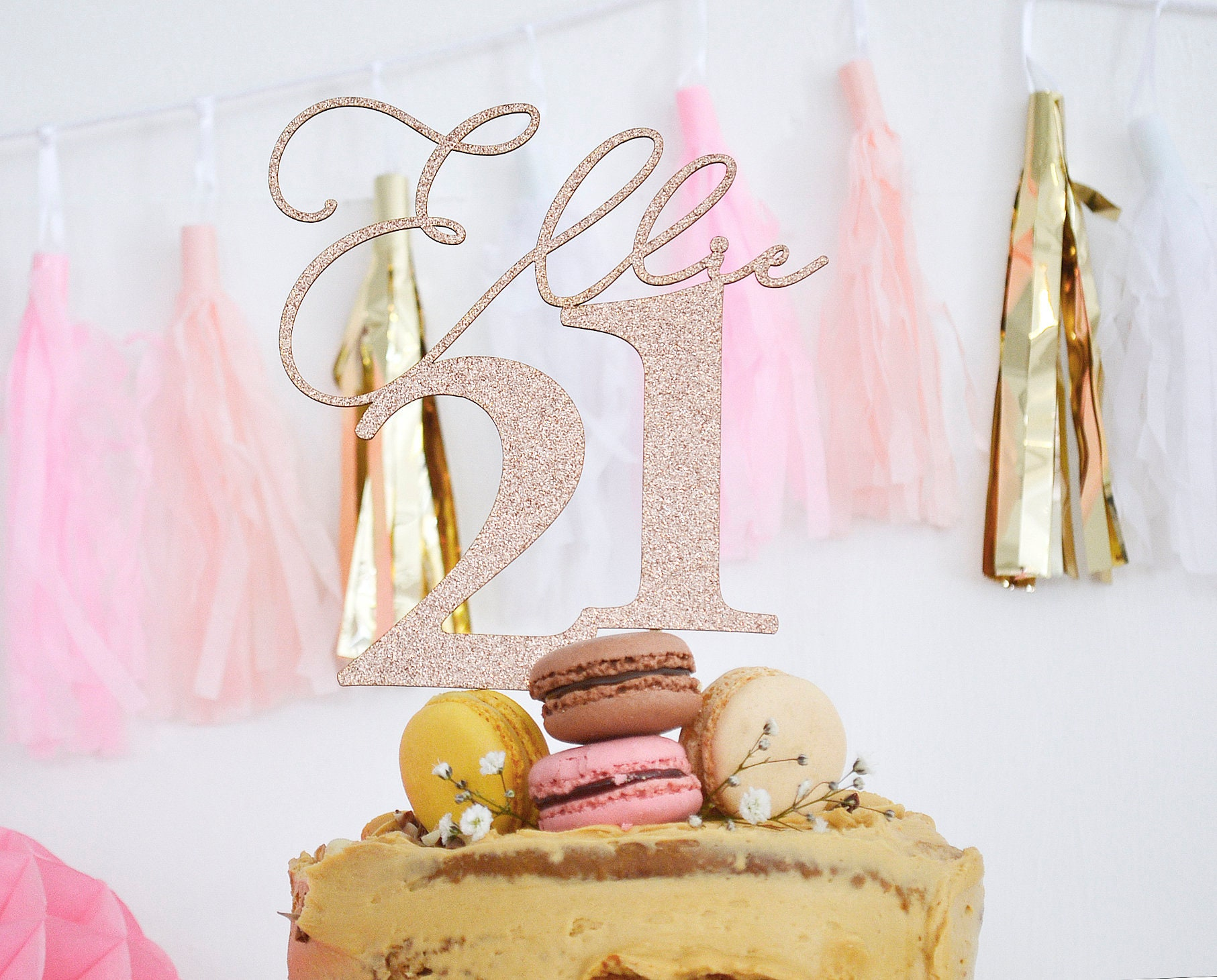 Personalised Rose Gold Cake Topper