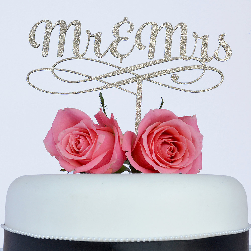Mr & Mrs Paper Wedding Cake Topper, Mr and Mrs Cake Topper, Mr and ...