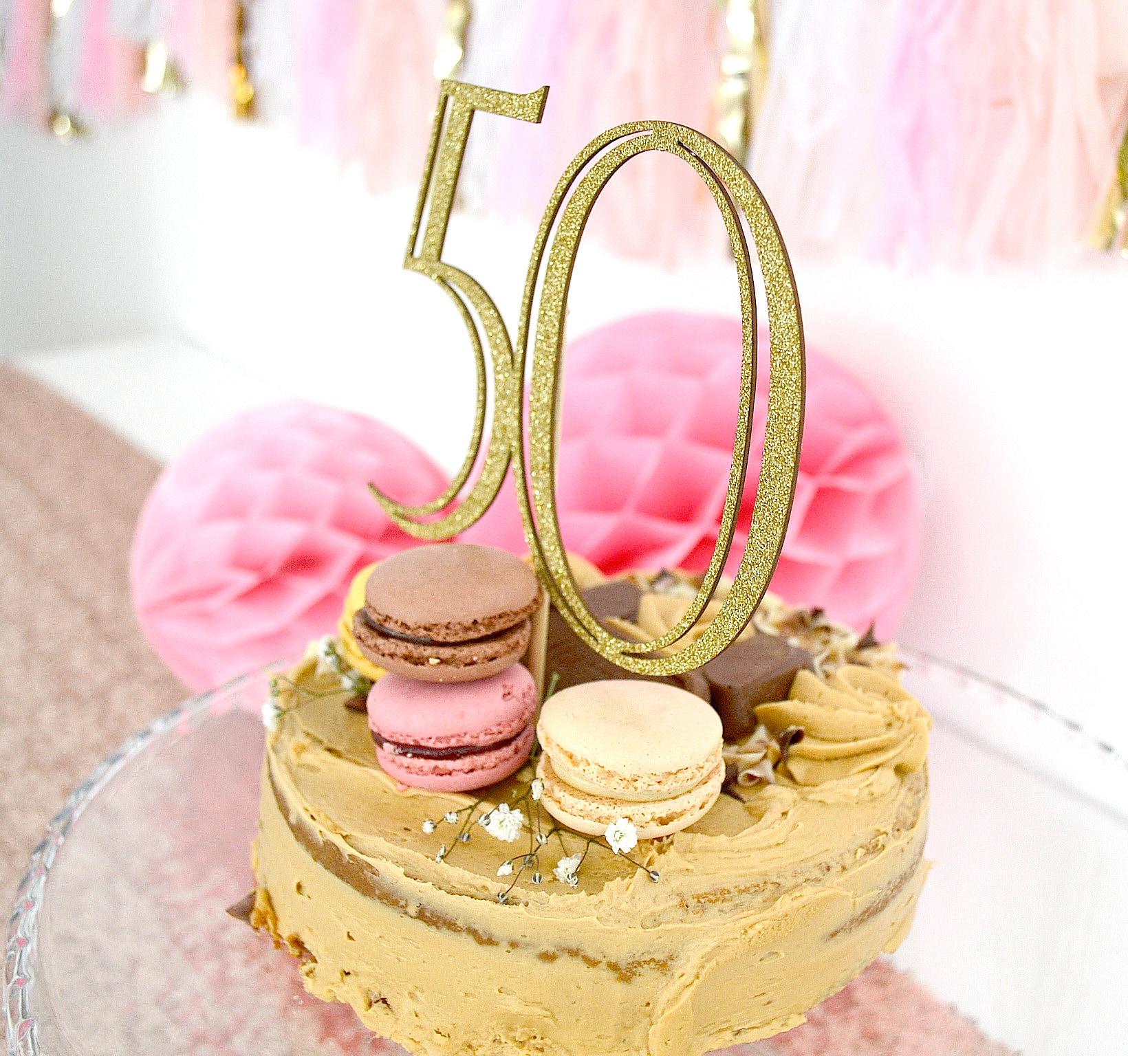 50 Birthday Cake Topper Fiftieth Birthday Cake Topper 50th