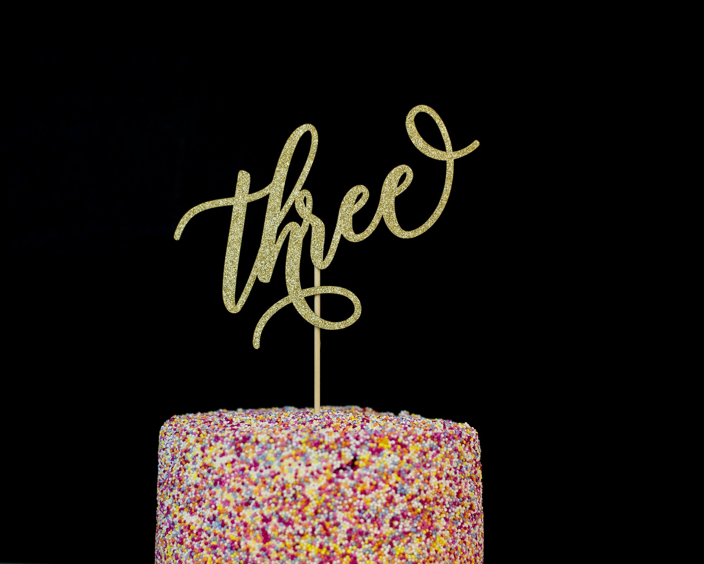 3rd Birthday Cake Topper