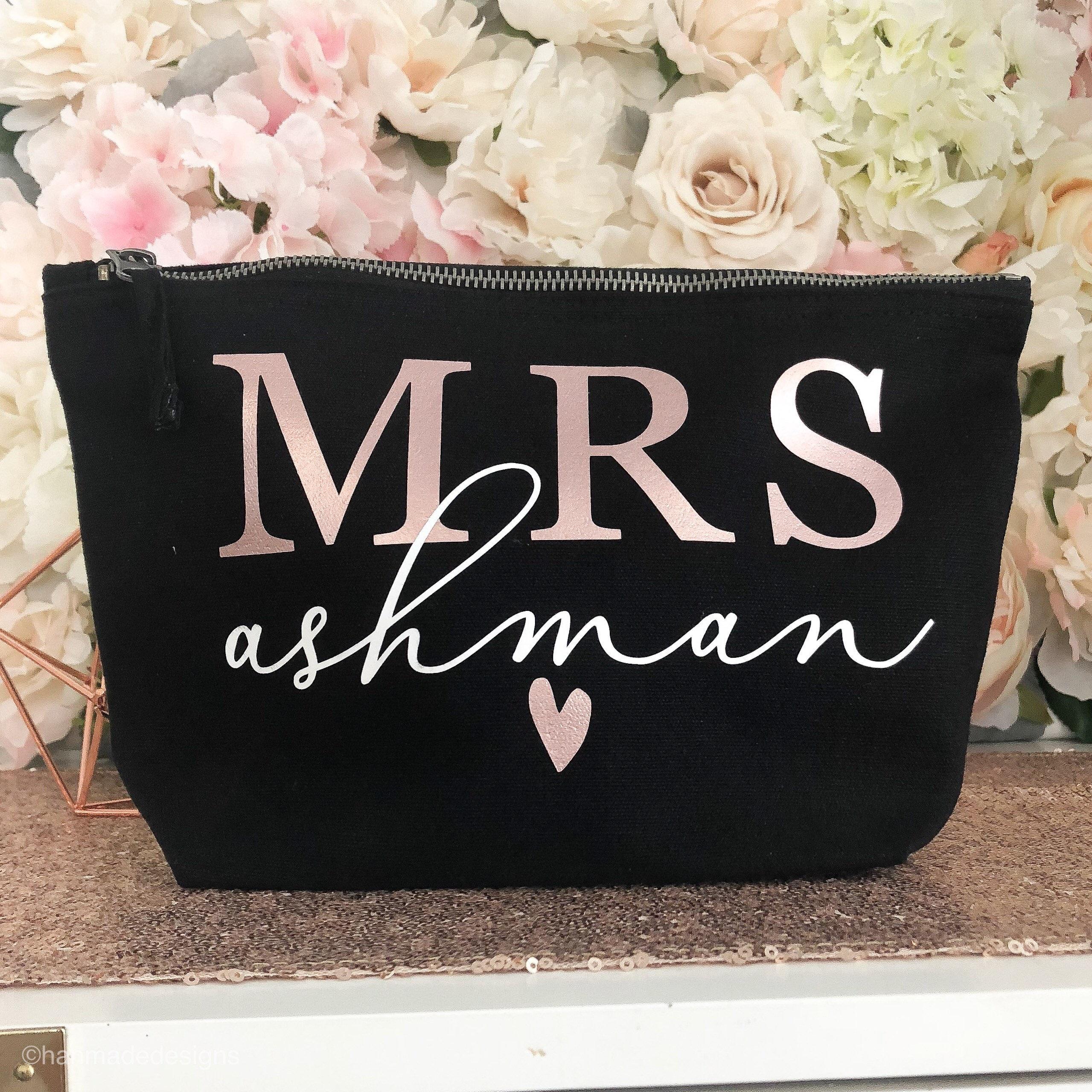 Gift For Bride On Her Wedding Day Rose Gold Wedding Make Up Bag