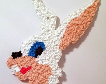 Vintage Melted Plastic Popcorn Easter Bunny Rabbit Decoration by Kage