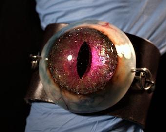 Mystic Magenta Dragon Eye Cuff Bracelet