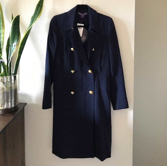 new concept beauty shop best sellers NEW Ralph Lauren Purple Label Collection Navy Trench Peacoat