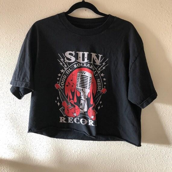 Vintage Authentic Sun Records famous black Band T