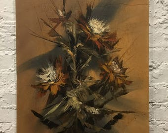MCM Abstract Floral Oil Painting