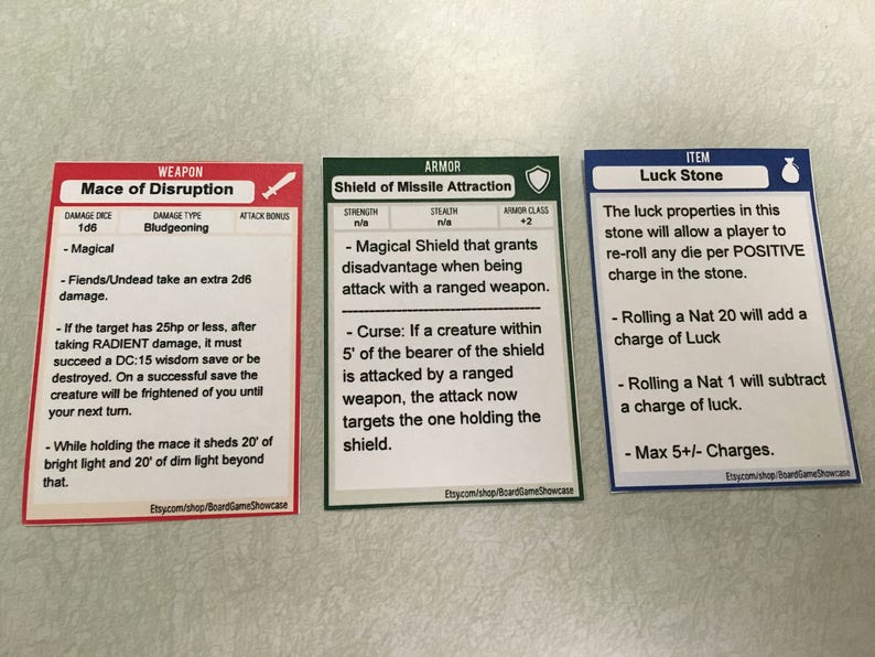 Top Five D&d 5e Magic Item Cards - Circus