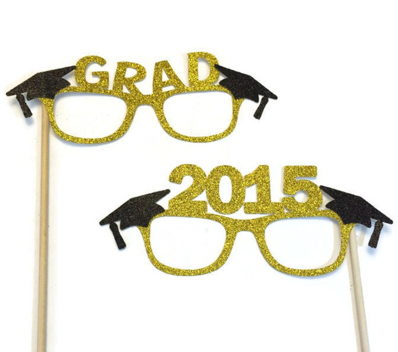 83ca558e5999 Graduation Photo Booth Props Graduation Glasses with | Etsy