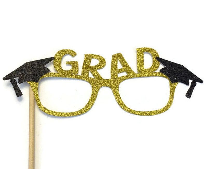 99ac15b69ecb Graduation Photo Booth Props Graduation Glasses with Glitter image 0