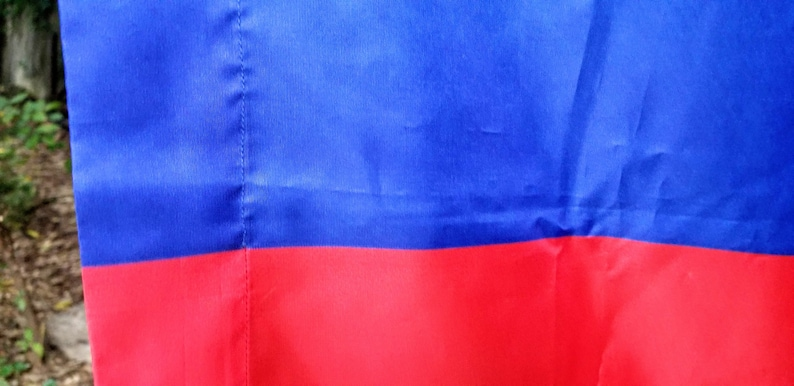 Vintage Columbia National Flag Nylon Flag 65 by 43 Inch