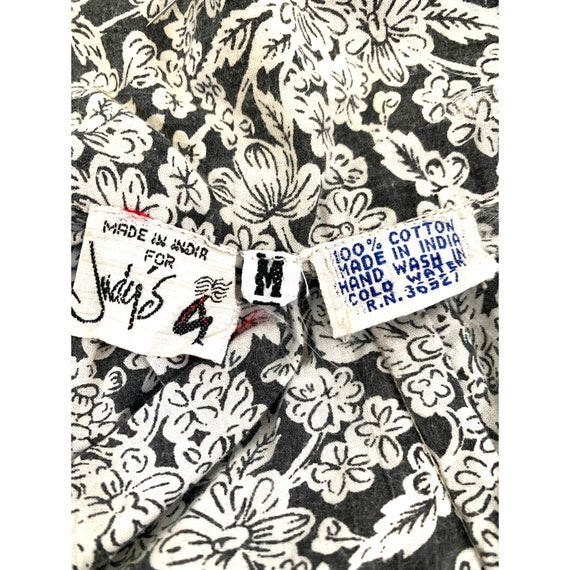 Vintage INDIA Block 70s Print JUDYs Ribcage Cotto… - image 7