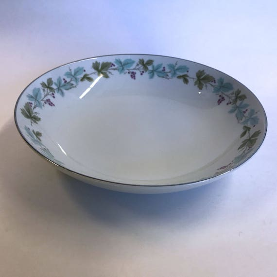 Jarm Italian big hand paint centerpiece table bowl with grapes 18 12